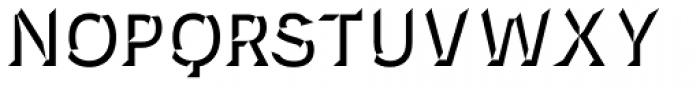 Novecento Carved Bold Font UPPERCASE