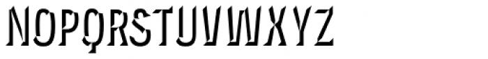 Novecento Carved Condensed Bold Font UPPERCASE
