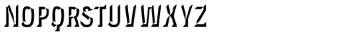 Novecento Carved Condensed Bold Font LOWERCASE