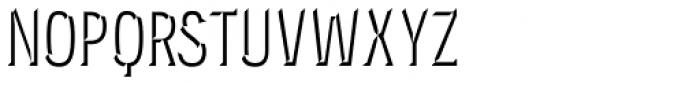 Novecento Carved Condensed Medium Font UPPERCASE