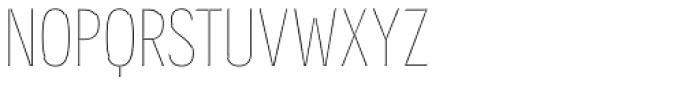 Novecento Carved Condensed Ultra Light Font UPPERCASE