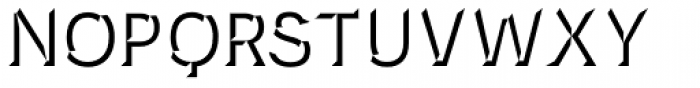 Novecento Carved Demi Bold Font UPPERCASE