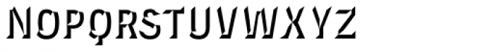 Novecento Carved Narrow Bold Font LOWERCASE