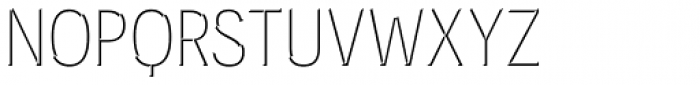 Novecento Carved Narrow Book Font UPPERCASE