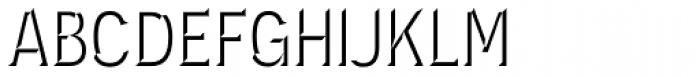 Novecento Carved Narrow Medium Font UPPERCASE