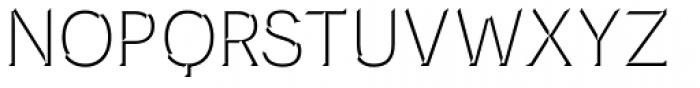Novecento Carved Normal Font UPPERCASE