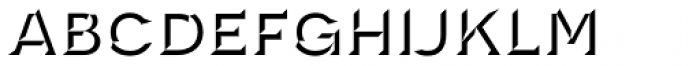Novecento Carved Wide Demi Bold Font LOWERCASE