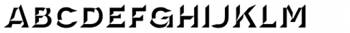 Novecento Carved Wide Ultra Bold Font LOWERCASE