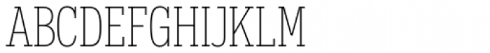 Novecento Slab Condensed UltraLight Font UPPERCASE