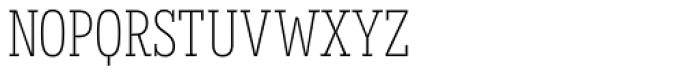 Novecento Slab Condensed UltraLight Font LOWERCASE