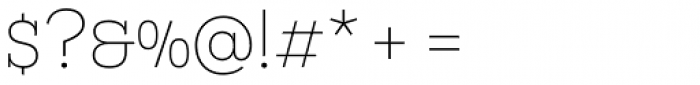 Novecento Slab Wide UltraLight Font OTHER CHARS