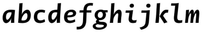 Novel Mono Pro Bold Italic Font LOWERCASE