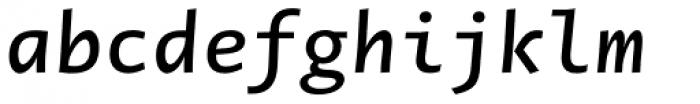 Novel Mono Pro SemiBold Italic Font LOWERCASE