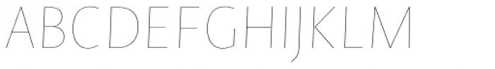 Novel Sans Hair 10 Italic Font UPPERCASE