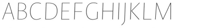 Novel Sans Hair 18 Italic Font UPPERCASE