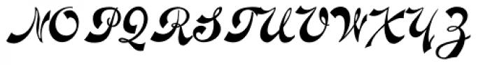 Novelty Script Font UPPERCASE