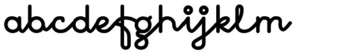 November Script Black Font LOWERCASE