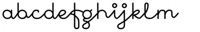 November Script Medium Font LOWERCASE