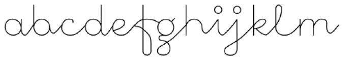 November Script Font LOWERCASE