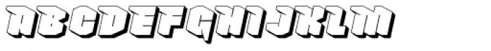 Nowy Geroy 4F Shadow Italic Font UPPERCASE