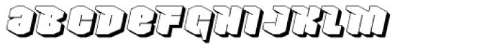 Nowy Geroy 4F Shadow Italic Font LOWERCASE