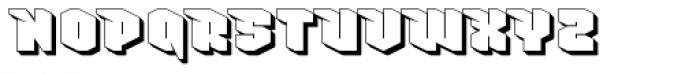 Nowy Geroy 4F Shadow Font UPPERCASE