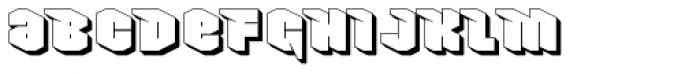 Nowy Geroy 4F Shadow Font LOWERCASE