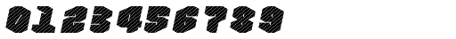 Nowy Geroy 4F Stripes Italic Font OTHER CHARS