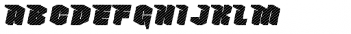 Nowy Geroy 4F Stripes Italic Font UPPERCASE