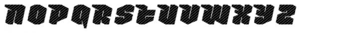 Nowy Geroy 4F Stripes Italic Font LOWERCASE