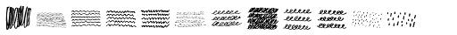 Noyh A Hand Pattern Font UPPERCASE