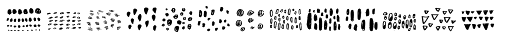 Noyh A Hand Pattern Font LOWERCASE