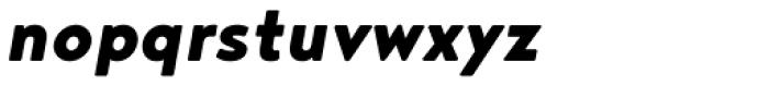 Noyh Black Italic Font LOWERCASE