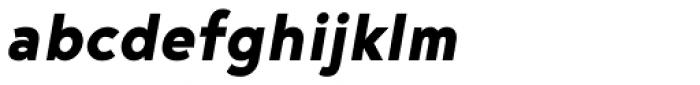 Noyh Geometric Heavy Italic Font LOWERCASE