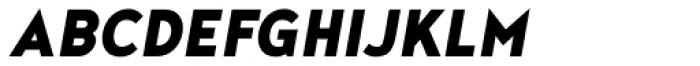 Noyh Geometric Slim Black Italic Font UPPERCASE