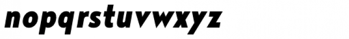 Noyh Geometric Slim Black Italic Font LOWERCASE