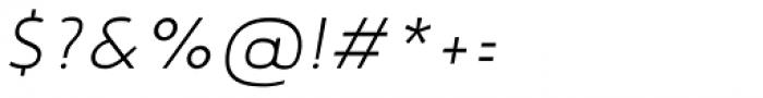 Noyh Geometric Slim Light Italic Font OTHER CHARS