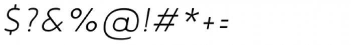 Noyh Slim Light Italic Font OTHER CHARS