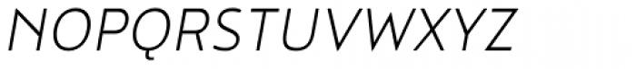 Noyh Slim Light Italic Font UPPERCASE