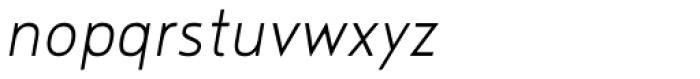 Noyh Slim Light Italic Font LOWERCASE