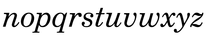 Notebook Italic Font LOWERCASE