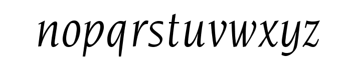 NovareseStd-BookItalic Font LOWERCASE