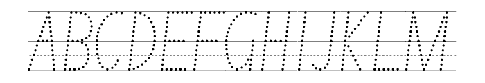 NSW ACT School Handwriting Guide Font UPPERCASE