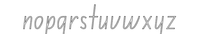 NSW ACT School Handwriting Outline Font LOWERCASE