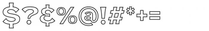 NS Mudolf  Sans Outline Font OTHER CHARS