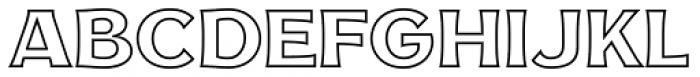 NS Mudolf  Sans Outline Font UPPERCASE