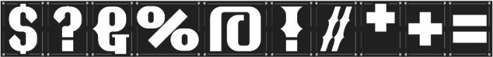 NT Guru One otf (400) Font OTHER CHARS