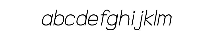 NTS Akkhara Italic Font LOWERCASE