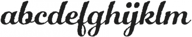 Number Five Rough otf (400) Font LOWERCASE