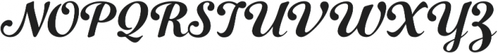 Number Five Smooth otf (400) Font UPPERCASE